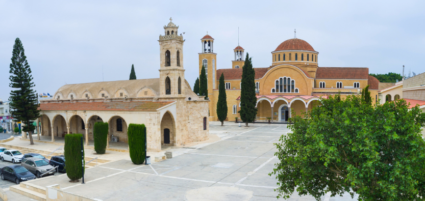 the churches of paralimni square